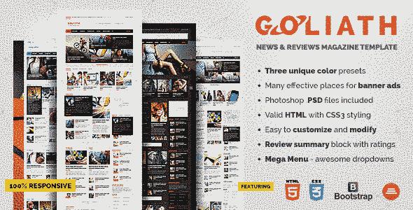 قالب مجله خبری بسیار حرفه ای واکنش پذیر html
