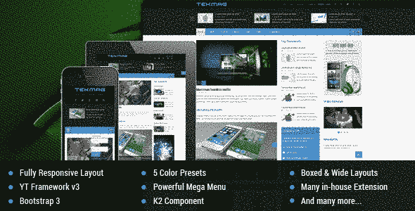 قالب مجله وبلاگ نویسی تکنولوژی rtl جوملا3