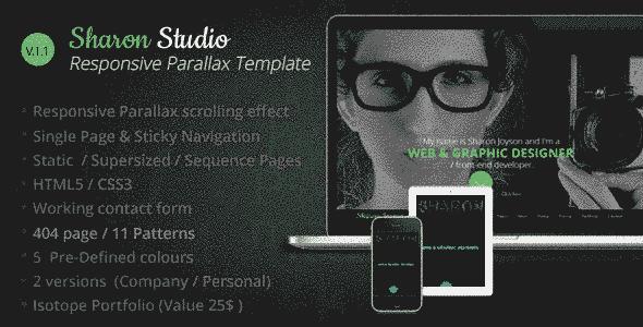قالب تک صفحه ای طراحی وب سایت زیبا گرافیکی html