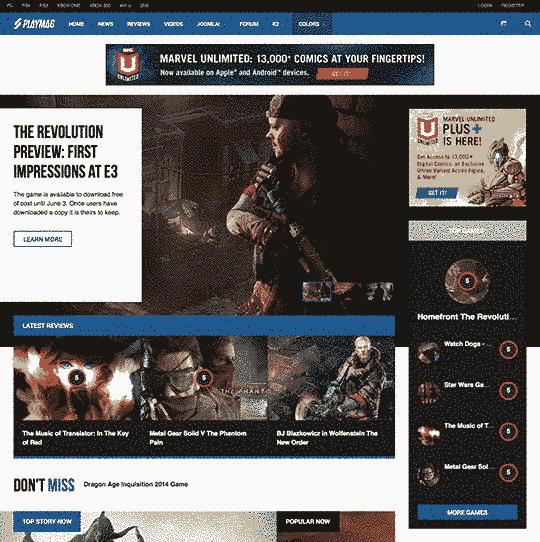 قالب مجله وبلاگ نویسی بازی اطلاعات بازیها RTL جوملا