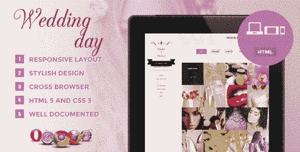 قالب نمایشگاه لباس عروس و وبلاگ نویسی html