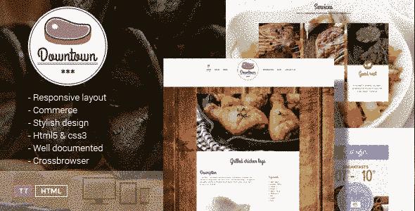 قالب رستوران غذاخوری حرفه ای html