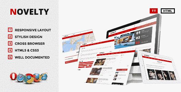 قالب مجله خبری وبلاگ نویسی همراه اسلایدر html