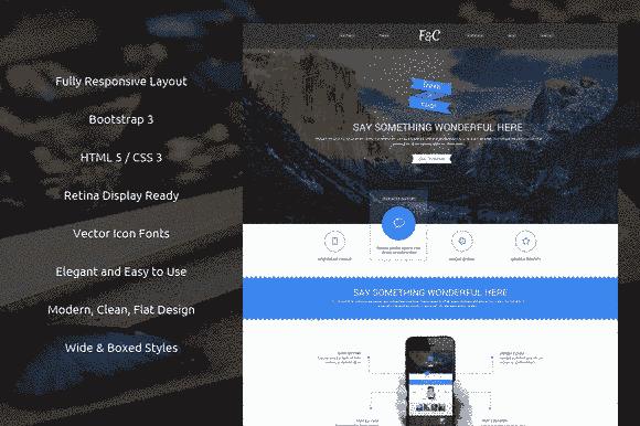 قالب حرفه ای ریسپانسیو Fresh & Cool Bootstrap html