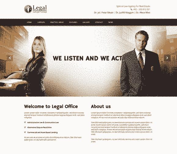 قالب موسسات حقوقی وکالت ثبت شرکتها لگال وردپرس