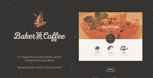 قالب سایت کافی شاپ Baker & Coffee HTML