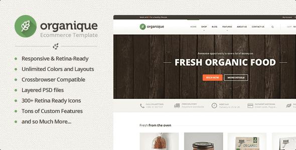 قالب فروشگاه حرفه ای ارگانیکو ریسپانسیو html