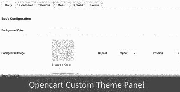 پنل مدیریت قالب حرفه ای فروشگاه ساز اوپن کارت v1.0