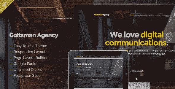 قالب تک صفحه ای شرکت آژانس خدماتی اسلایدر وردپرس