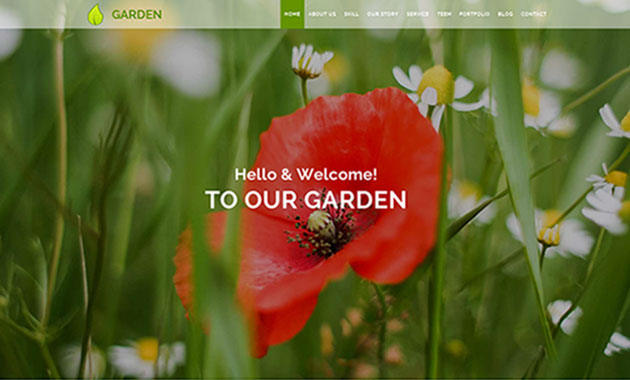 قالب خدمات باغبانی ریسپانسیو اسلایدر html