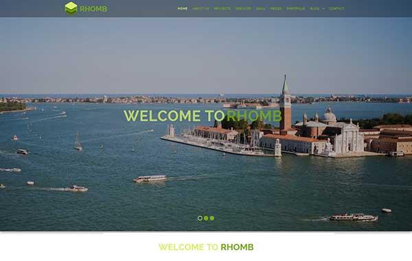 قالب تک صفحه ای شرکتی تجاری بوت استریپ پارالاکس html