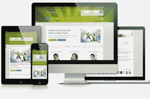 قالب سایت شرکت it Community اسلایدر 6 استایل متفاوت جوملا