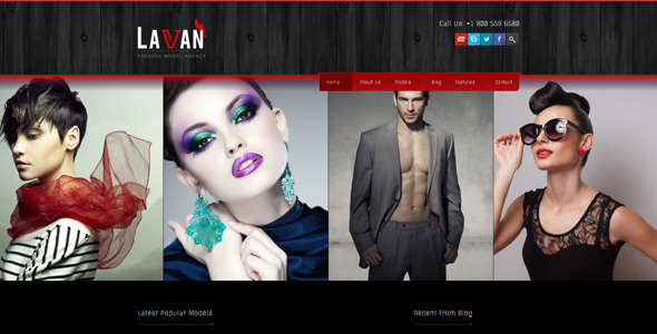 قالب سایت مدل و فشن وردپرس