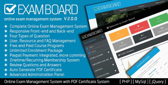 اسکریپ سیستم مدیریت آزمون انلاین