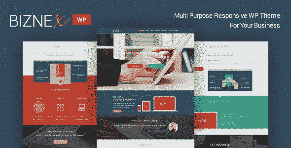 قالب مولتی بیزنکس پارالاکس شرکت تجاری وردپرس