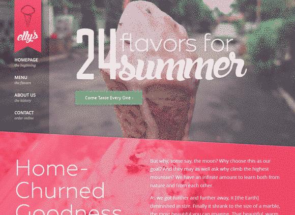 فالب شرکت بستنی سازی گرافیک سرعت لود مناسب ریسپانسیو html