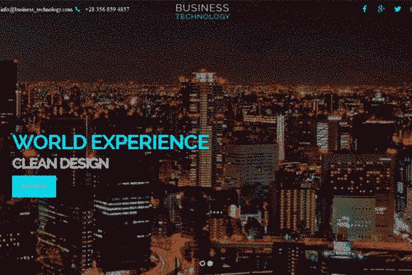 قالب تک صفحه ای سایت تجاری شرکتی پارالاکس html