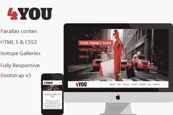 قالب یک صفحه ای شرکتی تجاری همراه اسلایدر ریسپانسیو html