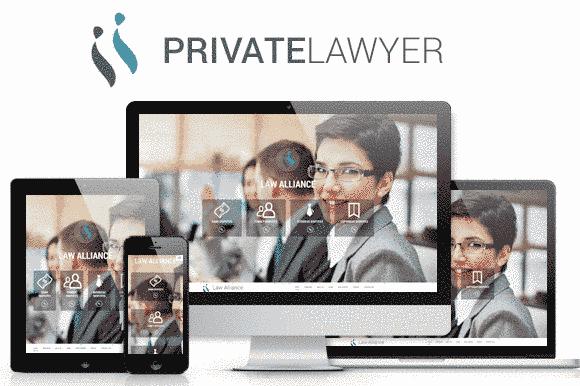 قالب تک صفحه ای سایت شرکت موسسه حقوقی با امکانات مناسب html