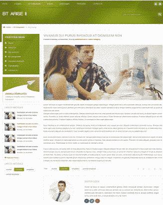 قالب سایت شرکتی بی تی آریس همراه اسلایدر جوملا