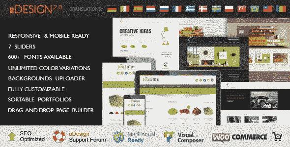 قالب حرفه ای سایت شرکتی یو دیزاین چند زبانه وردپرس