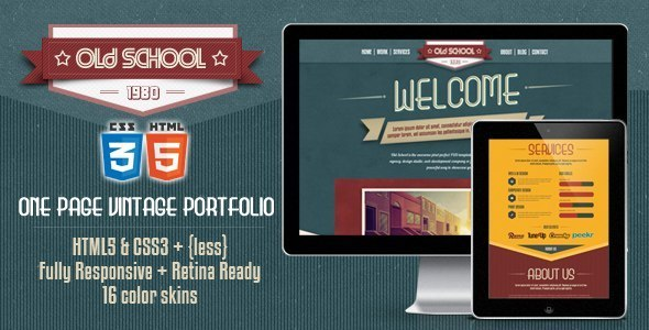 قالب تک صفحه ای  بسیار زیبا و شیک پروفایل HTML5