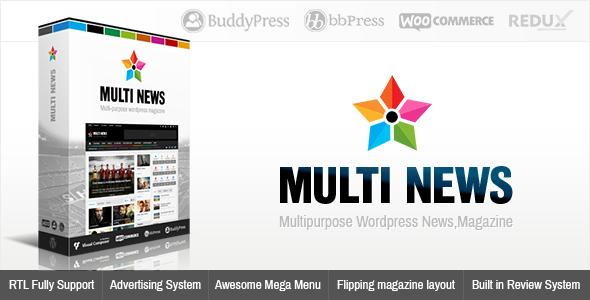 دانلود قالب Multinews ورژن2 برای وردپرس