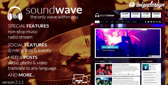 قالب صدا برای سایت های موزیک SoundWave وردپرس