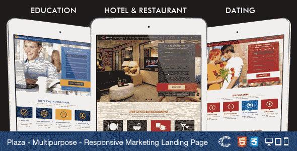قالب سایت آموزشی هتل شبکه اجتماعی html5 واکنش پذیر
