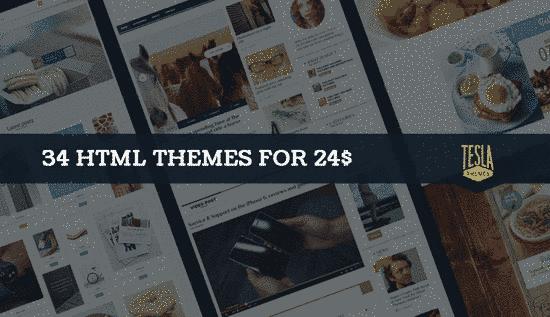 34 مجموعه قالب حرفه ای سایت تلسا html