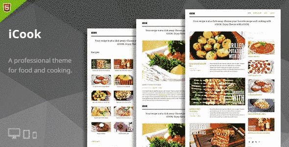 قالب ساده حرفه ای با سرعت لود بالا آشپزی html