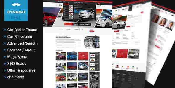 قالب فروشگاهی ماشین خودرو دینامو html