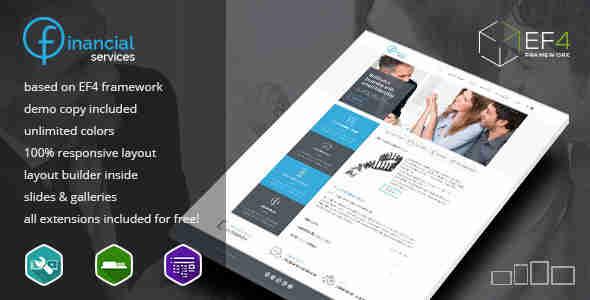 قالب سایت سرویس خدمات مالی RTL جوملا