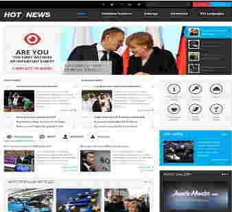 قالب ریبا مجله خبری جوملا RTL هات نیوز