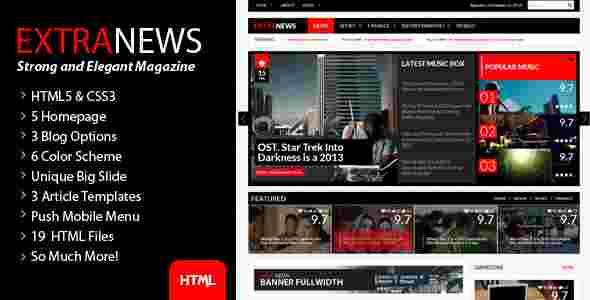 قالب مجله وبلاگ نویسی سفید مشکی html