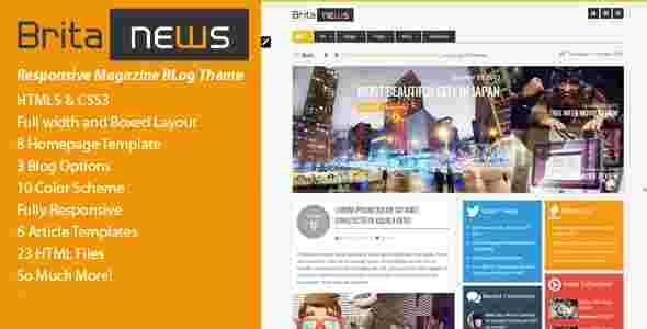 قالب سایت وبلاگ نویسی 2 3 4 ستونه بریتا html