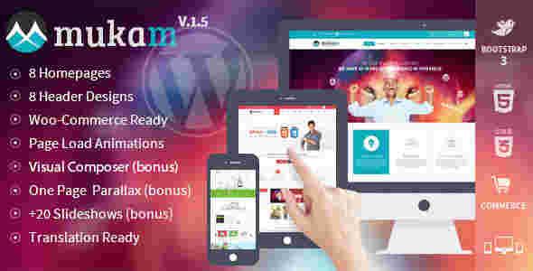 قالب چند منظوره شرکتی وبلاگ نویسی موکام html