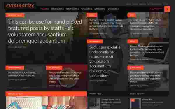 قالب مجله وبلاگ نویسی سرعت لود بالا سامرایز html