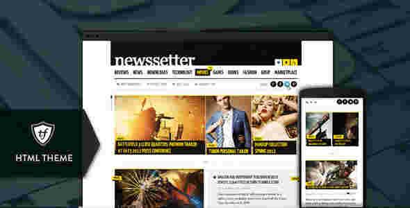 قالب مجله خبری وبلاگ نویسی نیوزستار html