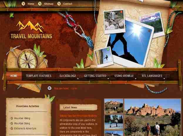 قالب سایت کوهنوردی جوملا RTL کوه ها