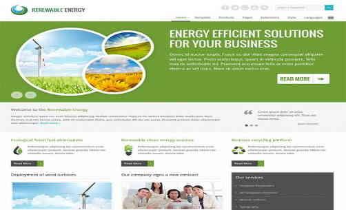 قالب سایت انرژی تجدید پذیر جوملا RTL جم
