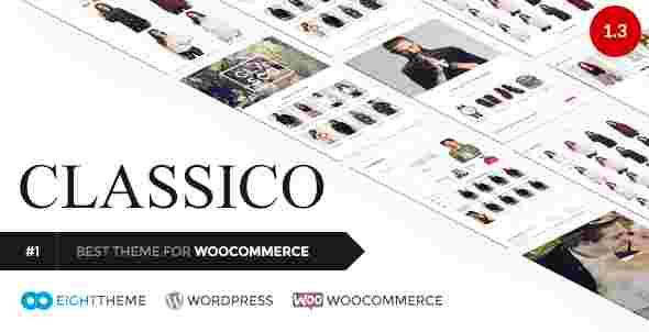 قالب سایت فروشگاه برند لباس کفش کیف وردپرس RTL کلاسیکو
