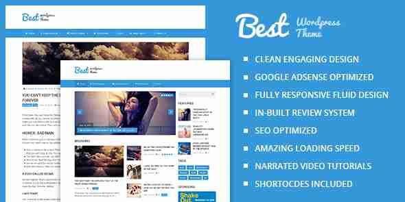 قالب سئو شده بهترین مجله وبلاگ نویسی وردپرس