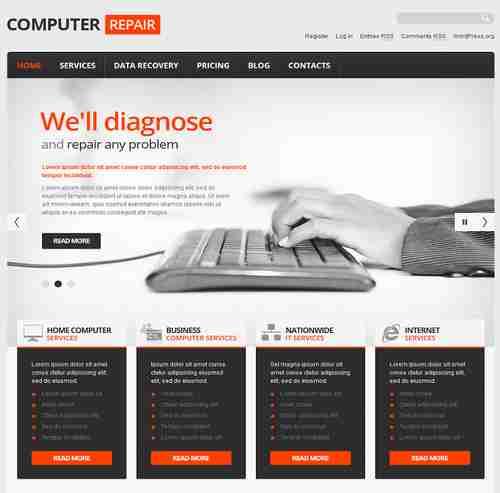 قالب سایت تعمیرات سخت افزار IT وبلاگ نویسی html
