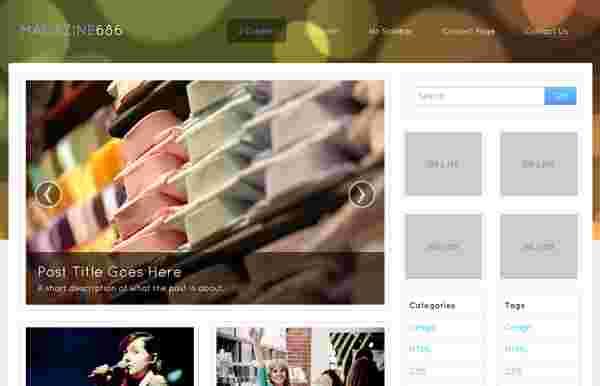 قالب وبلاگ نویسی 2 و 3 ستونه مگزین html