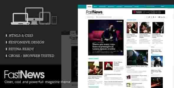 قالب مجله خبری وبلاگ نویسی فست نیوز html