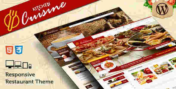 قالب سایت رستوران همراه فروشگاه وردپرس RTL کیچن کازینو