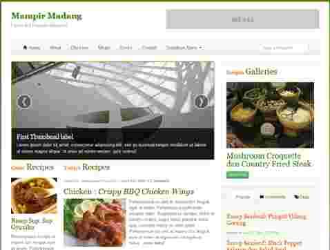 قالب مجله وبلاگ نویسی آشپزی مدانگ html