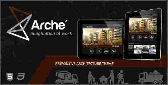 قالب تجاری طراحی معماری شهرک سازی آرچ html