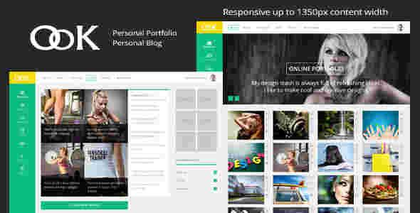 قالب شخصی تجاری وبلاگ نویسی اوکی html
